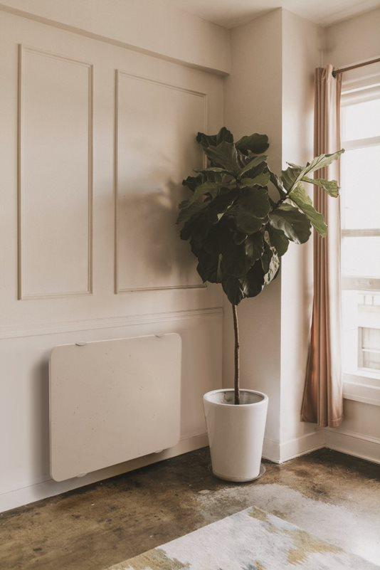 Radiateur design pierre de lave beige